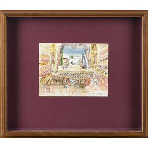 Raoul Dufy lithograph of the opera, 6