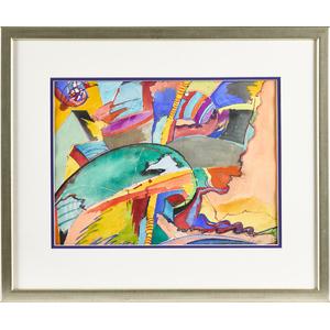 Patrick Walshe (American 1952-), watercolor abstra