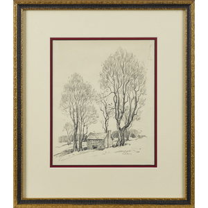Gustav Nilson (American 1897-1988), pencil sketchf