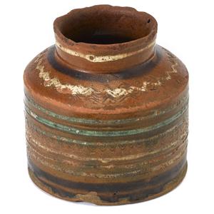 Rare Huntingdon County, Pennsylvania redware jar,a