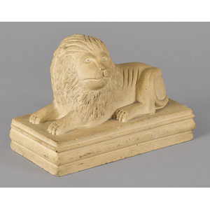 Aggregate figure of a recumbent lion, late 19th c.