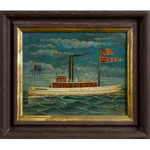 Otto Muhlenfeld (American 1871-1907), oil on board