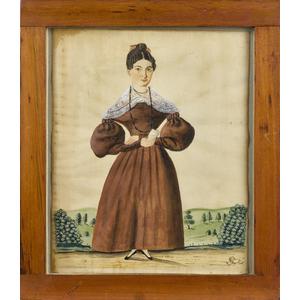 Jacob Maentel (American 1763-1863), watercolor ful