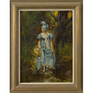 Leon Moran (American 1864-1941), oil on canvas lan