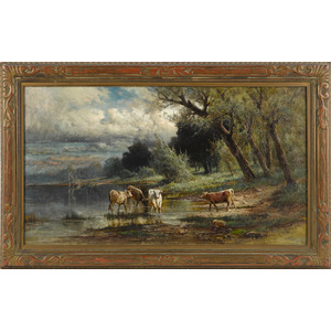 Carl Philipp Weber (American 1850-1921), oil on ca