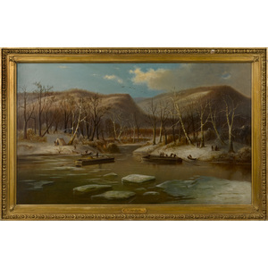 Titian Ramsay Peale (American 1799-1885), oil on c