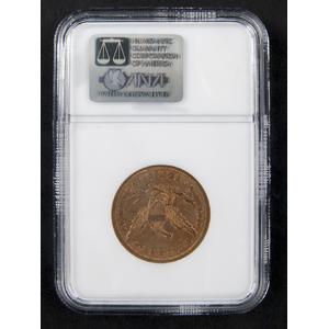 Gold Liberty Head ten dollar coin, 1862, NGC AU-53