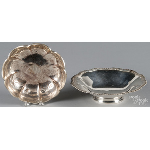 Two sterling silver bowls, 2 3/4