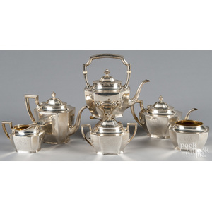 Reed and Barton six-piece sterling silver tea serv
