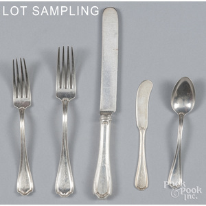 Reed and Barton sterling silver flatware service i
