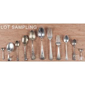 Sterling silver flatware, to include souvenir spoo