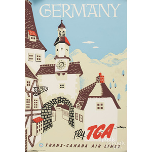 Two vintage TCA travel posters, to include one Can