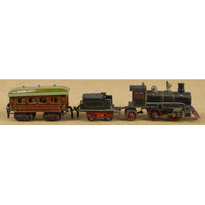 Marklin three-piece tin wind-up train set, to incl