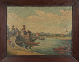 Attributed to Youqua, China Trade oil on canvas do