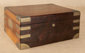 China Trade brass bound rosewood lap desk, ca. 183