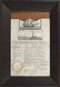 Andrew Jackson signed ship's passage document, dat