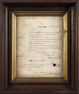 John Adams signed naval appointment for Richard Sa