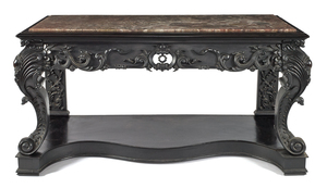 Chinese carved rosewood pier table