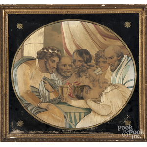 Silkwork picture of the Last Supper
