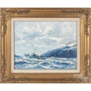 Guy Lipscombe (British 1881-1952), seascape