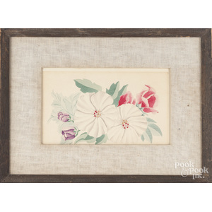 Watercolor floral drawing