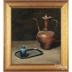 John E. Berninger (American 1897-1981), oil on canvas still life