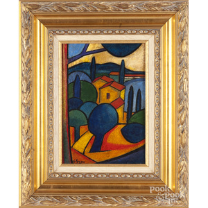 Oil on board, in the manner of Georges Braque