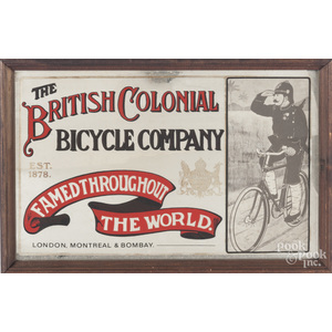 Modern advertisement for the British Colonial Bicycle Company