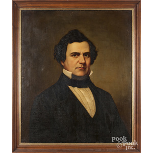 Oil on canvas portrait of William Jennings Bryan