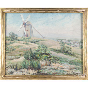 J. Winthrop Andrews (American 1879-1964), oil on canvas, {The Old Windmill}