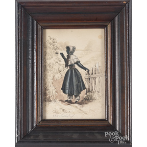 Watercolor portrait of Miss Doris Linebaugh