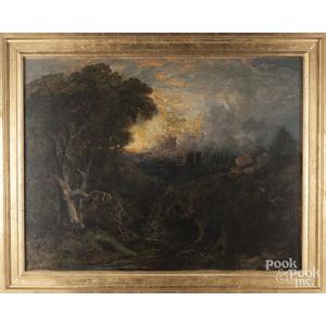 Edmund Niemann (British 1813-1876), oil on canvas landscape