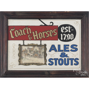 Tavern sign for the Coach & Horses