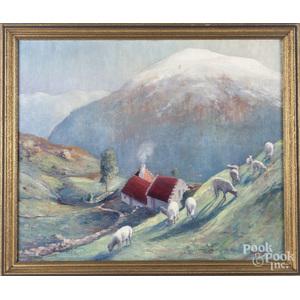 John Berninger (American 1897-1981), oil on canvas landscape