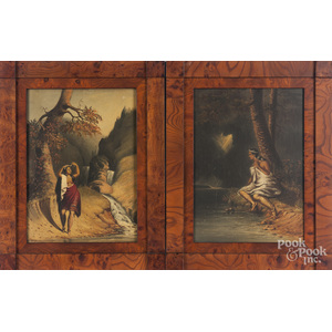 Three oil on panel works of Native Americans, mid 20th c.