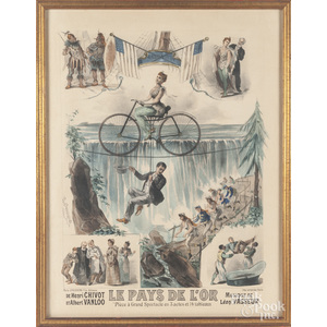French color lithograph for {Le Pays De L'Or}