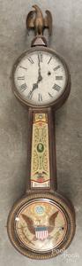 Federal style banjo clock
