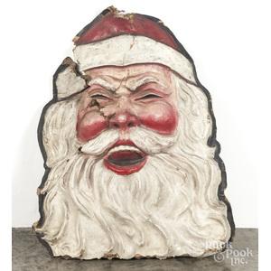 Painted papier-mâché Santa Claus