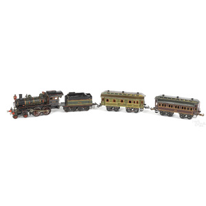 Carette #2350 clockwork train locomotive and tend