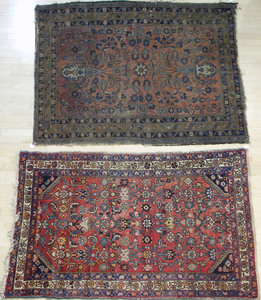 Two Hamadan carpets, early/mid 20th c., 6' 6
