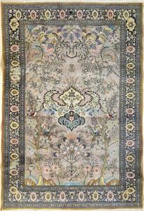 Kirman garden rug, 8' x 5'.