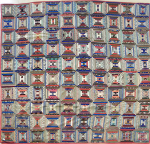 Log cabin quilt, 19th c., 97