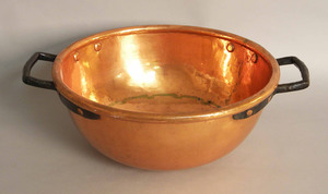 Dovetailed copper bowl, 7 3/4