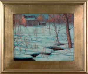 David Hahn (American, 20th c.), acrylic on board t