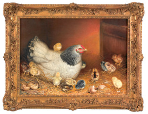 Ben Austrian (American, 1870-1921), oil on canvasf