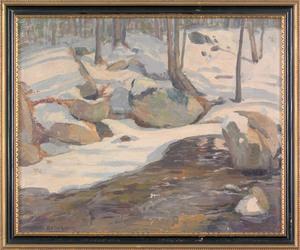 Arthur Ernst Becher (American, 1877-1960), oil ona