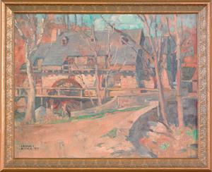 Arthur Ernst Becher (American, 1877-1960), oil ono