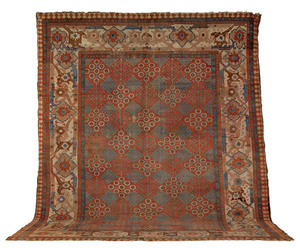 Heriz carpet, ca. 1900, with a brick red field and