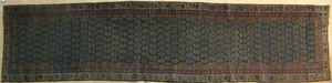 Malayer runner, ca. 1920, with boteh design on a n