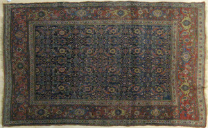 Bidjar carpet, ca. 1910, in a herati design, 7'2